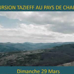 Excursion Tazieff au pays de Chauvet <br/>le dimanche 29 Mars