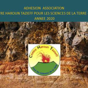 Adhésion association<br/> Centre Haroun Tazieff pour les sciences de la terre – CHT <br/>Année 2020