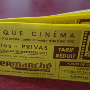Carnets d'abonnement pour le cinéma<br/> le Vivarais de Privas