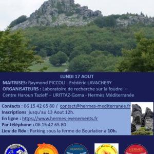 Conférence de presse «Foudre et volcans en Ardèche»
