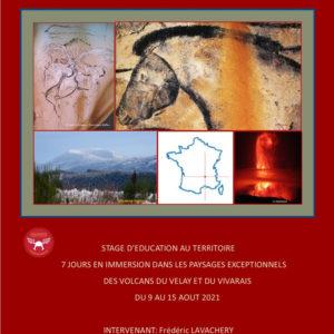 Stage d'éducation au territoire <br/>Immersion dans les paysages exceptionnels des volcans du Velay et du Vivarais <br/>du 9 au 15 août 2021